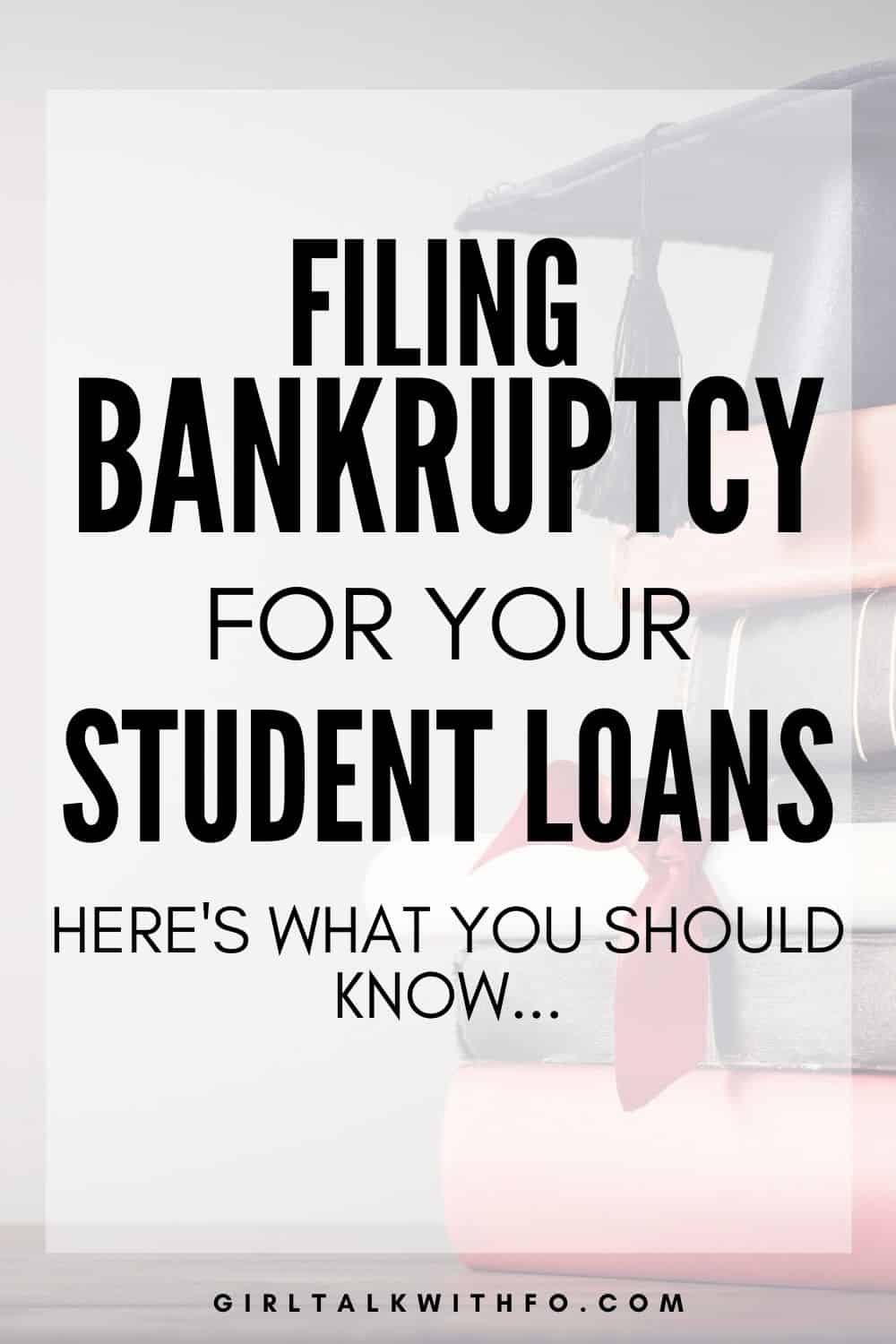 Can you File Bankruptcy for Student Loans in 2021?