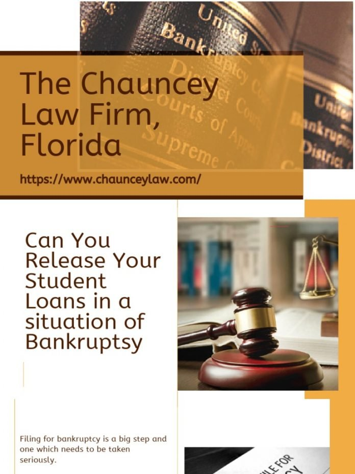 can you file bankruptcy on your student loans loan walls