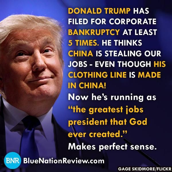 Donald Trump has filed for corporate bankruptcy at least 5 ...