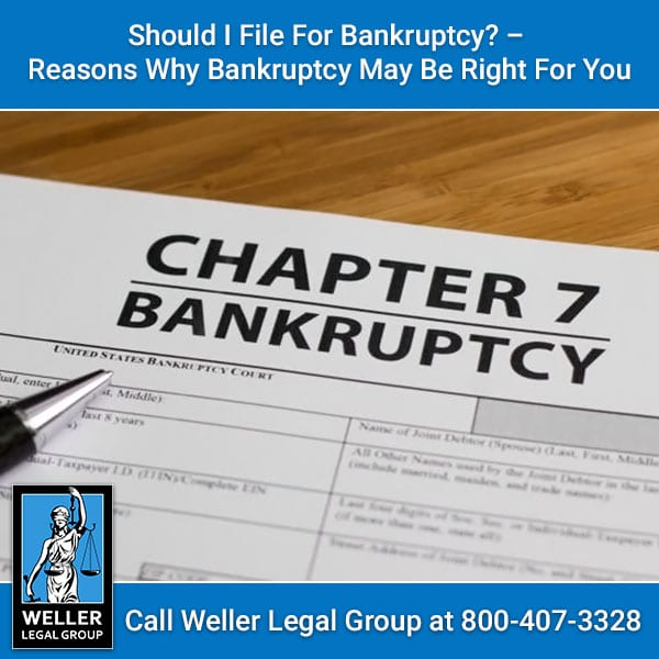 Should I File For Bankruptcy?  Reasons Why Bankruptcy May ...