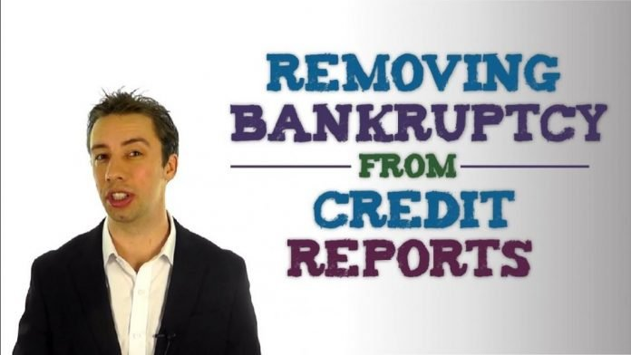 when does a bankruptcy come off your credit report